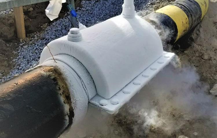 Cryogenic Line Freezing