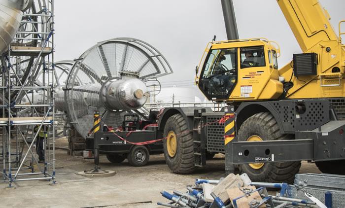 Heavy equipment on site