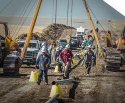 workers on oilfield site