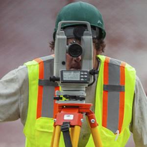 man surveying