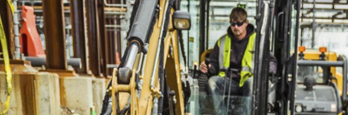 man operating heavy machinery