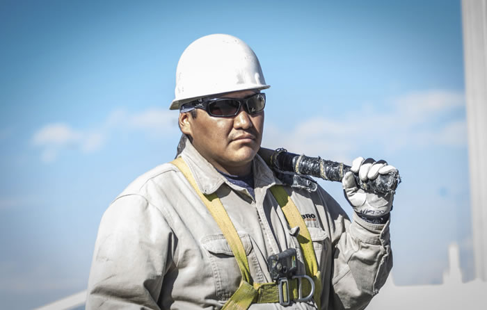 man with safety equipment