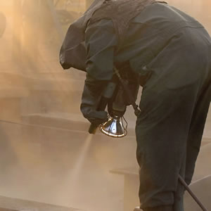 worker with safety equipment gear
