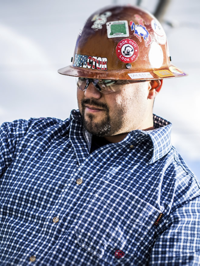 man with hard hat