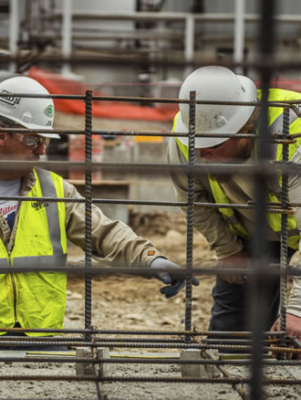 workers with rebar